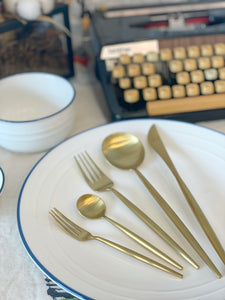 Full Gold Cutlery Set