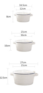 Earsoup Bowl With Lid (8inch/21cm)