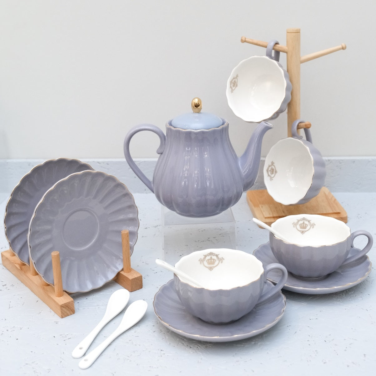 Pumpkin Tea Set A in Purple