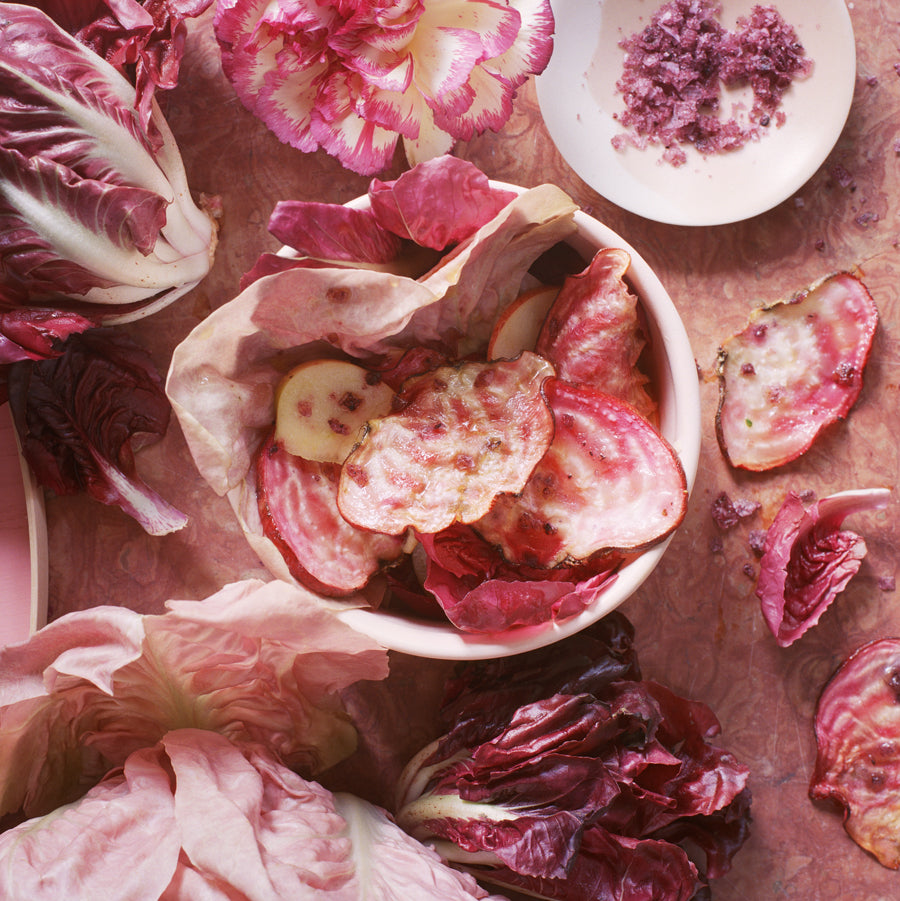 Radicchio mit Randenchips