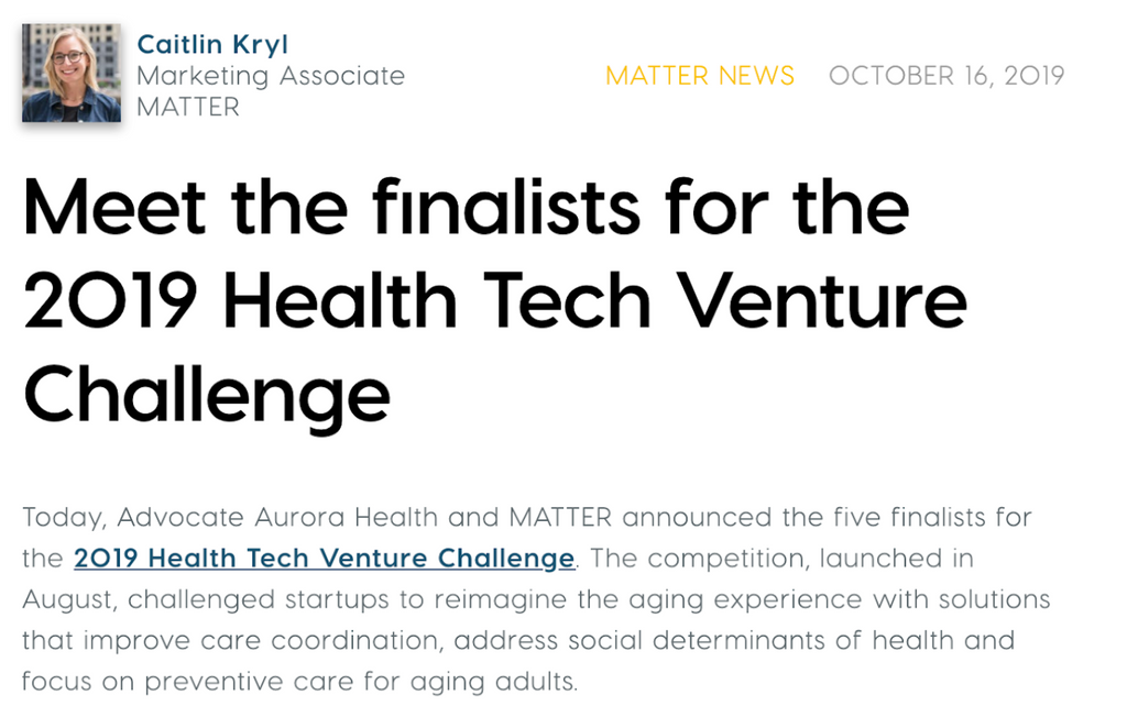 2019 Health Tech Venture Competition