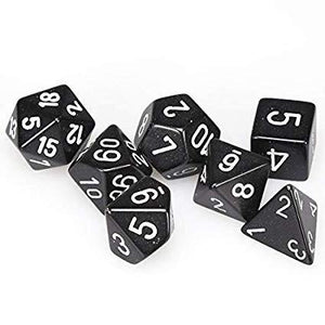 Black/white dice set-Chessex-1-Ludicus.ro - Magazinul Clipelor magice