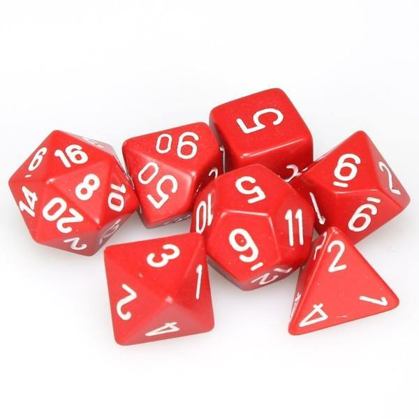 Red/white dice set
