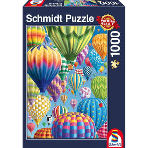 Puzzle 1000 COLORFUL BALLOONS IN THE SKY-Schmidt-1-Jocozaur