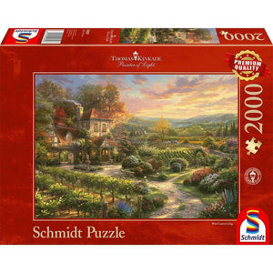 Puzzle 2000 THOMAS KINKADE: IN THE VINEYARDS-Schmidt-1-Jocozaur