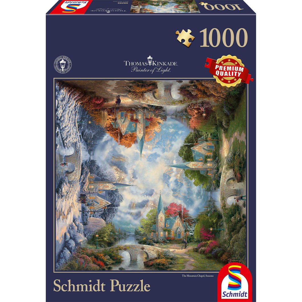 Puzzle 1000 THE MOUNTAIN CHAPEL 2-Schmidt-1-Jocozaur