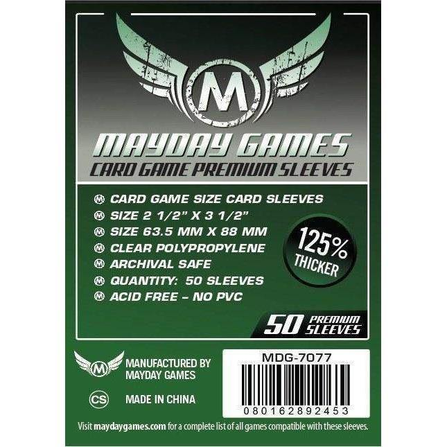 Card Game Mayday Premium Card Sleeves (pack of 50) 63.5mm x 88mm-Mayday-1-Jocozaur