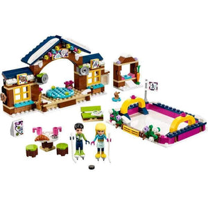 LEGO Friends Snow Resort Ice Rink 41322-LEGO-2-Jocozaur