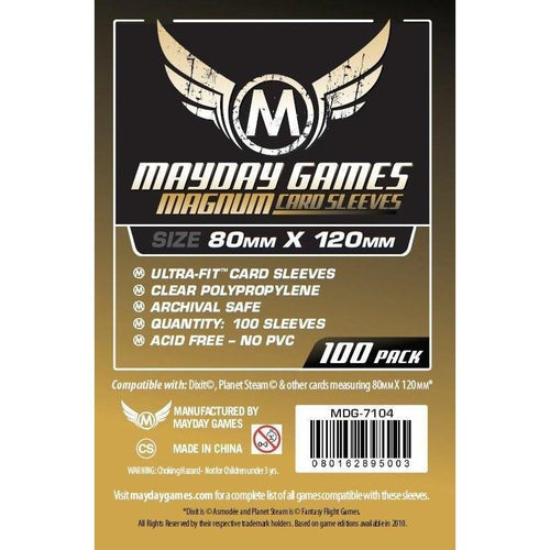 Magnum Gold Card Sleeves (pack of 100) 80mm x 120mm