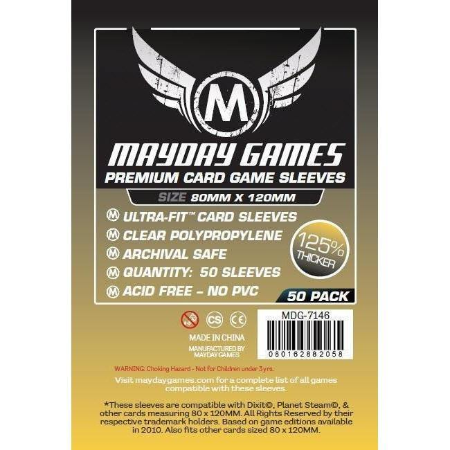 Magnum Gold Mayday Premium Card Sleeves (pack of 50) 80mm x 120mm-Mayday-1-Jocozaur