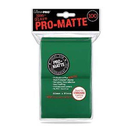 UP Standard Deck Protector Pro Matte Green (100 sleeves) 66mm x 91mm