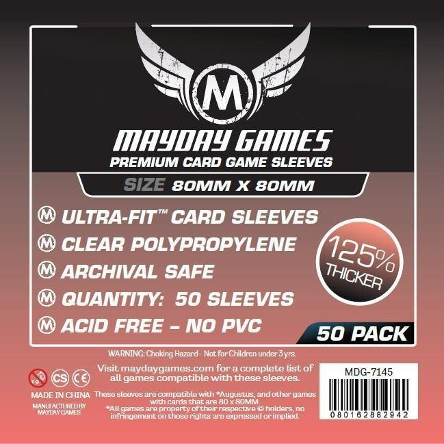 Square Medium Mayday Premium Card Sleeves (pack of 50) 80mm x 80mm-Mayday-1-Jocozaur