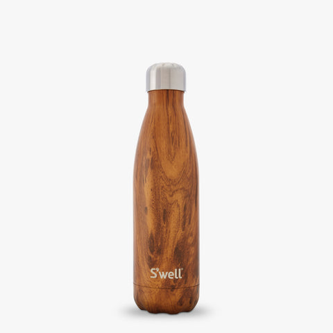 17 OZ S'WELL TEAKWOOD WATER BOTTLE