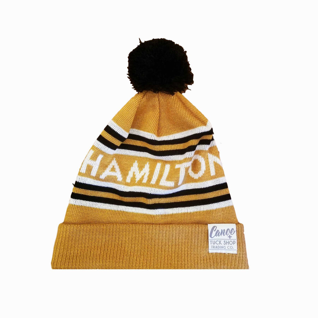 City of Hamilton Knitted Toque - Gold and Black