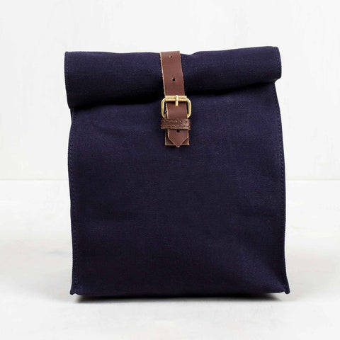 UNITED BY BLUE CANVAS LUNCH BAG - NAVY