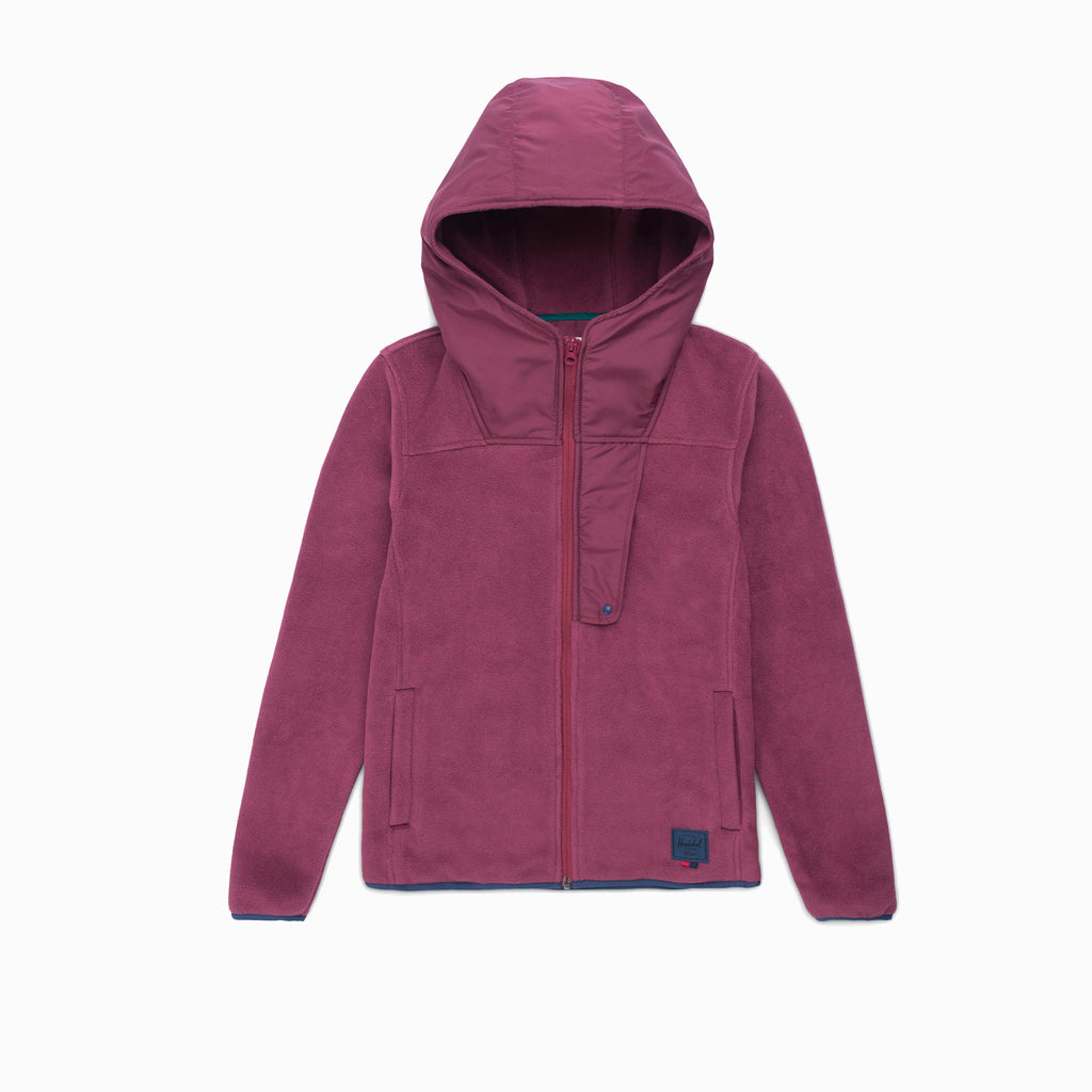 WOMENS ZIP UP FLEECE - WINE X