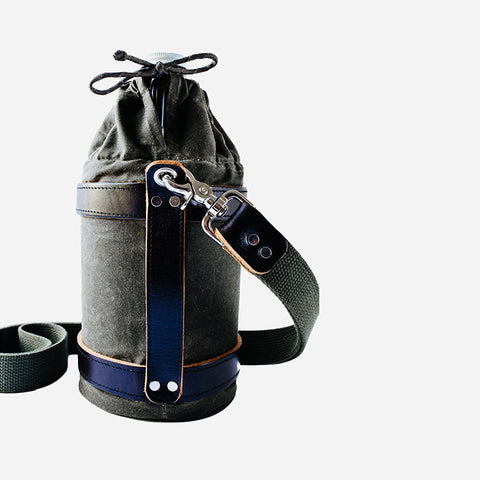 WAXED CANVAS OLIVE GROWLER CARRIER