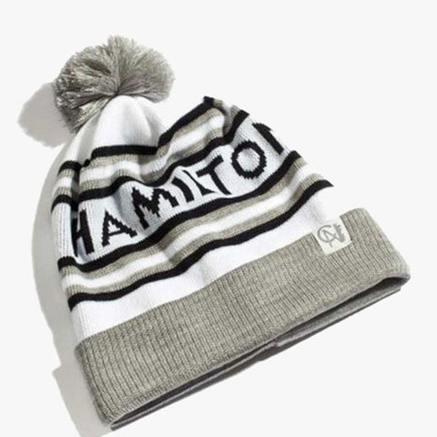 City of Hamilton Knitted Toque - Grey & White