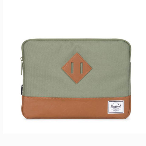 HERSCHEL HERITAGE DARK GREEN LICHEN LAPTOP SLEEVE