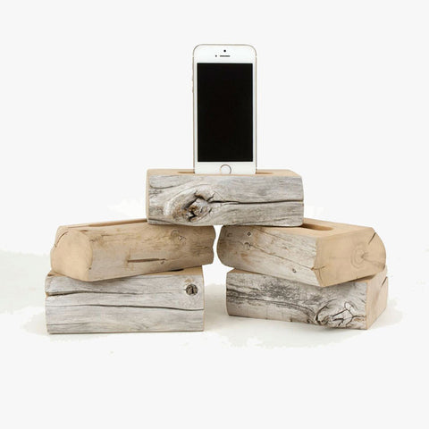Live Edge Driftwood Docking Station - Single iPhone