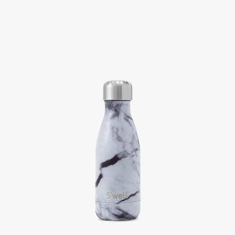 S'WELL 9 oz WHITE MARBLE BOTTLE
