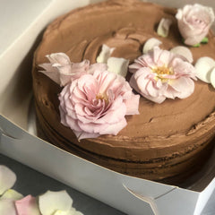 Chocolate Fudge Celebration Cake - small (also vegan option)