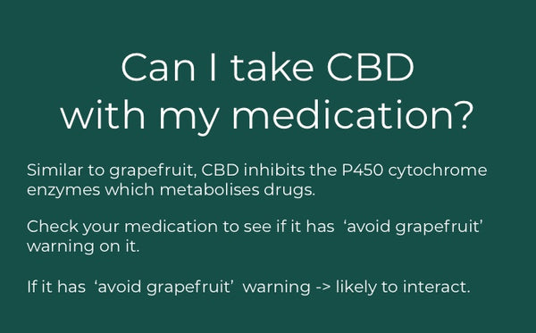 can i take CBD with my medication