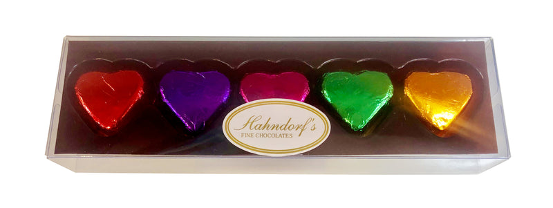 5 Tray Mixed Foiled Hearts Assortment