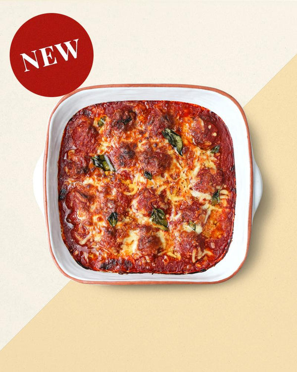 New Ready-Made Italian Meatballs In Rich Tomato Sauce And Cheese