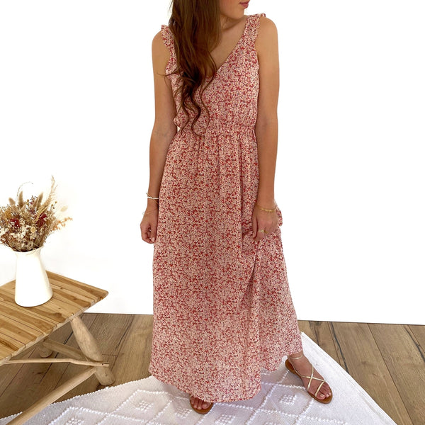 "Robe Longue ""Flavie"" Terracotta"