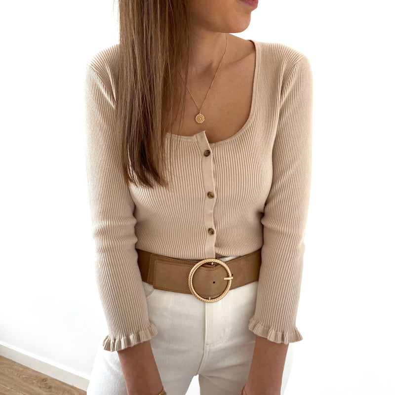 "Top ""Simon"" Beige"
