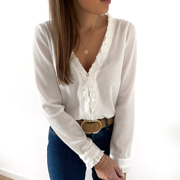 "Blouse ""Mathilde"" Ecru"