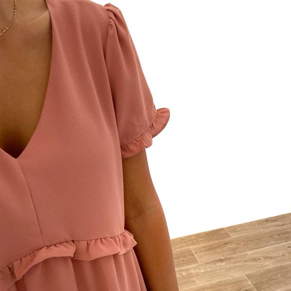 "Robe ""Agathe"" Rose"