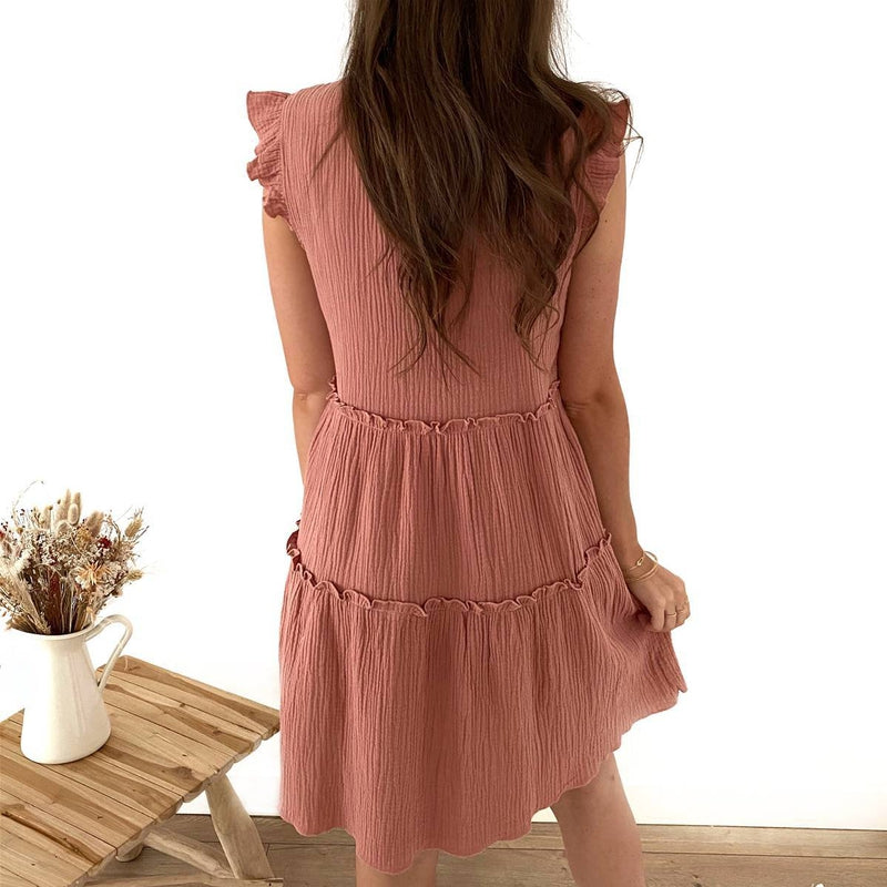 "Robe ""Albane"" Rose"