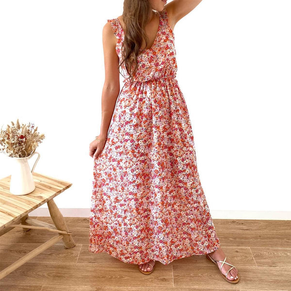 "Robe Longue ""Flavie"" Rose"