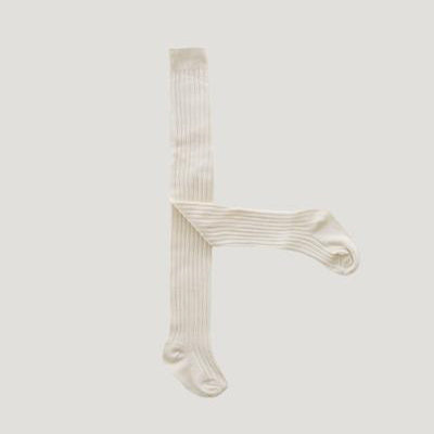 Collants blanc/beige
