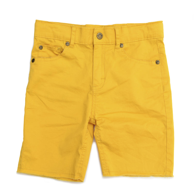 Short jaune effiloché