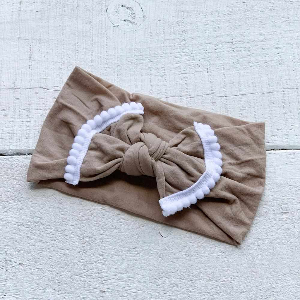 Bandeau marguerite - sable-Mini bretzel-Boutique Béluga