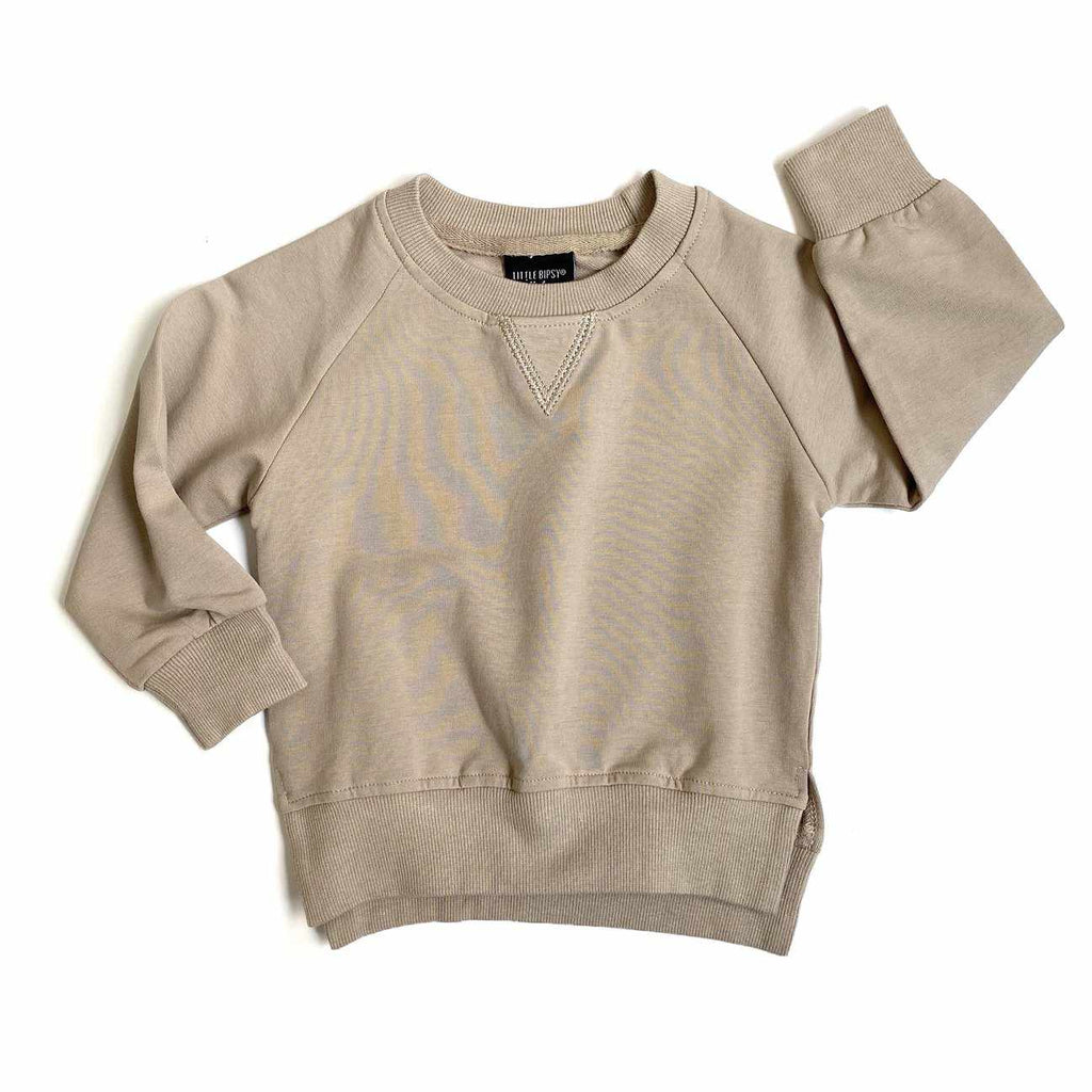 Chandail manches longues - taupe-Little Bipsy-Boutique Béluga