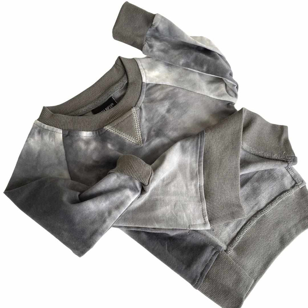 Chandail manches longues - tie dye charcoal-Little Bipsy-Boutique Béluga