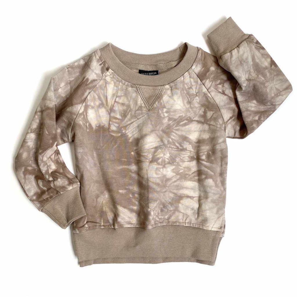"Chandail manches longues ""Tie Dye"" - Taupe-Little Bipsy-Boutique Béluga"