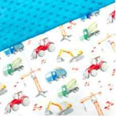 Couverture minky - Camion-Oops-Boutique Béluga