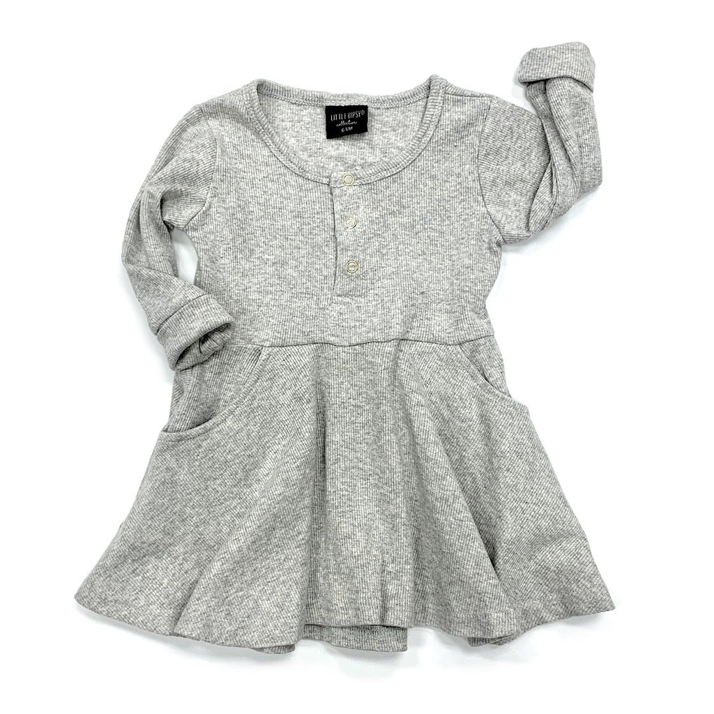 Robe manches longues - gris