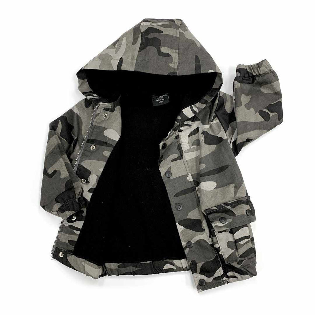 Manteau camouflage monochrome-Little Bipsy-Boutique Béluga