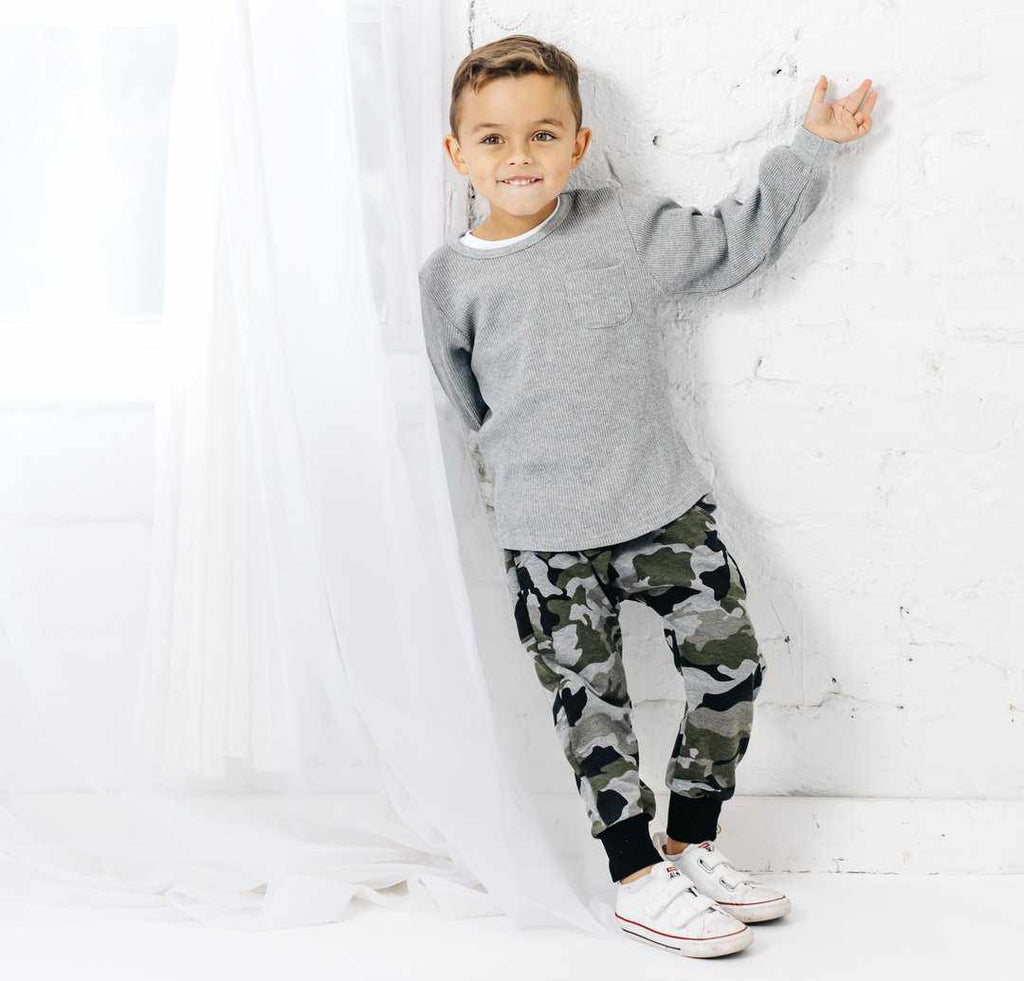 Pantalon mou - Camo-Little Bipsy-Boutique Béluga