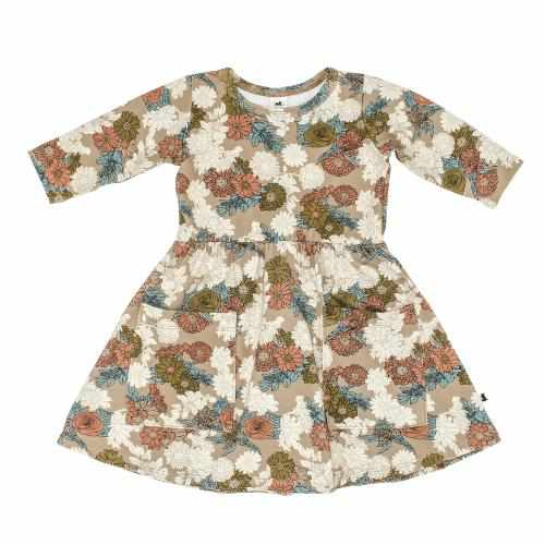 Robe clementine - wildflower-Little & Lively-Boutique Béluga