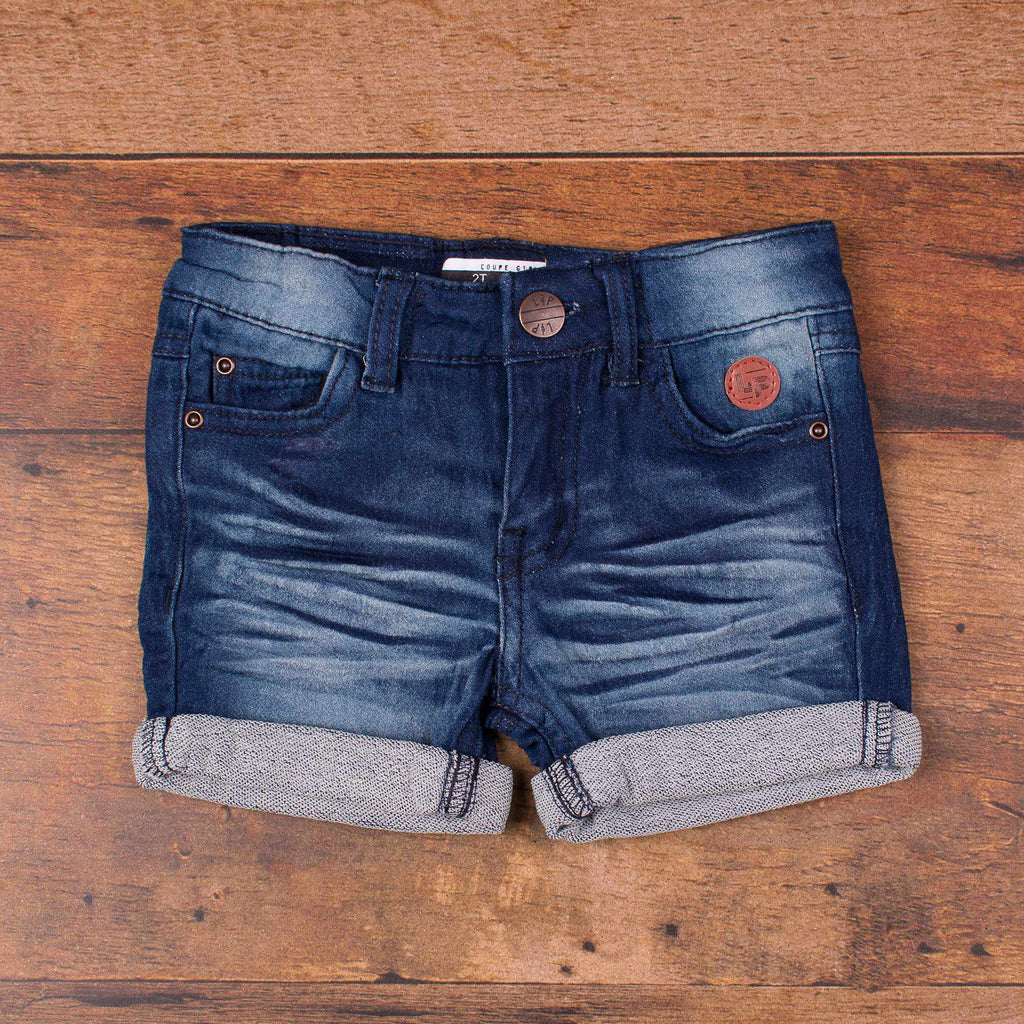 Short en jeans girly - Foncé-L&P-Boutique Béluga