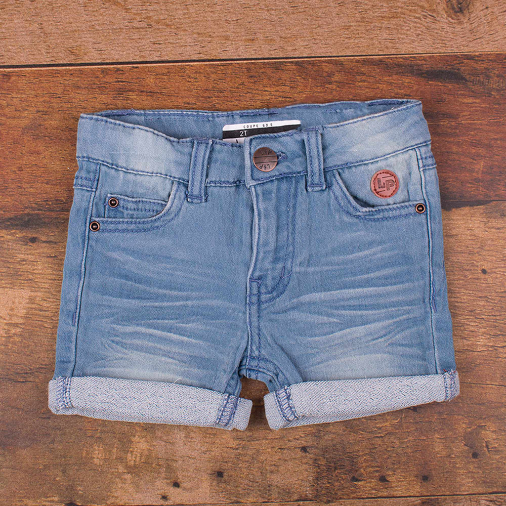 Short en jeans girly - Pâle-L&P-Boutique Béluga