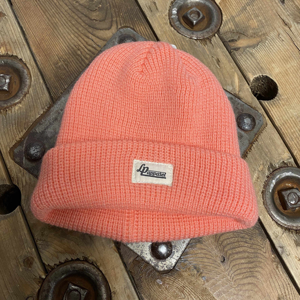 Tuque en tricot New York - Corail-L&P-Boutique Béluga