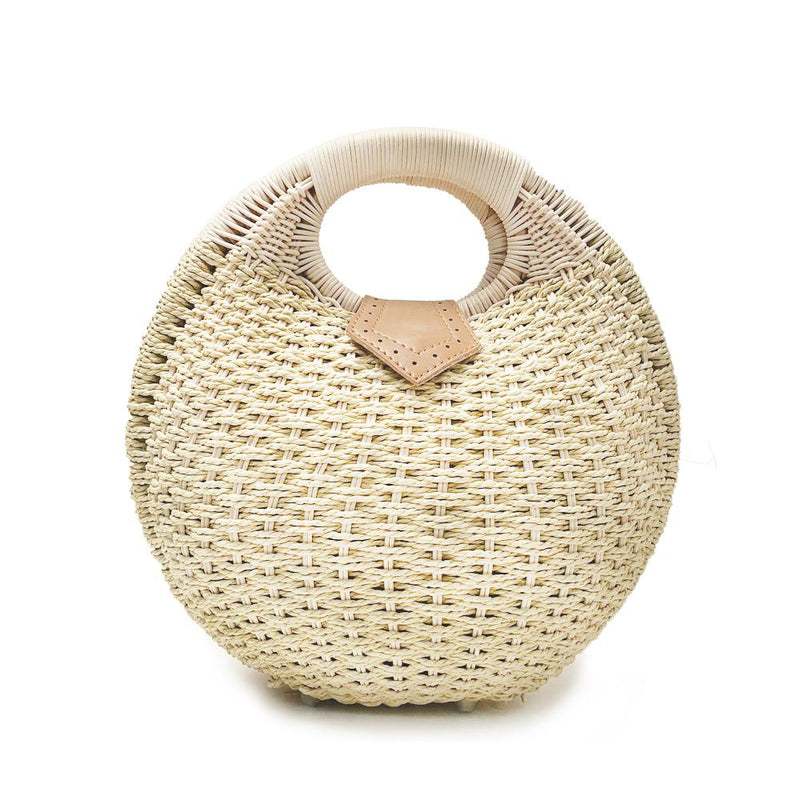 Top Handle Wicker Handbag